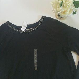 [Ann Taylor]Rhinestone/Jeweled Long Sleeve sweater